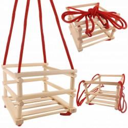 Dětská dřevěná houpačka s ohrádkou: 27 x 33,5 x 33,5