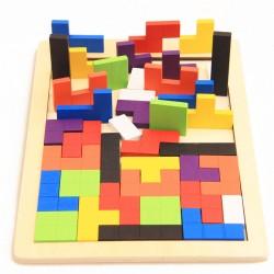 Dřevěné inteligentní puzzle pro děti - 40 prvků