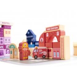 Dřevěné inteligentní puzzle pro děti - Město 100 prvků