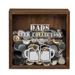 Dekorativní skříňka na vršky z pivních lahví
