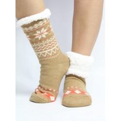 Kvítek ponožky - camel 13