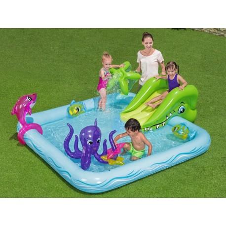 Nafukovací bazének se skluzavkou