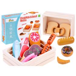 Dřevěné potraviny v boxu