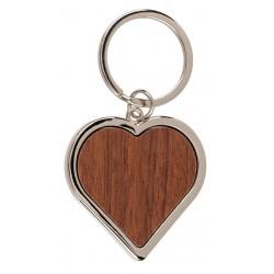 Kľúčenka s dreveným srdiečkom