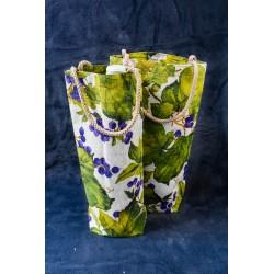 Eko bavlněná dárková taška na víno