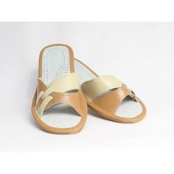 Dámské kožené pantofle model 7