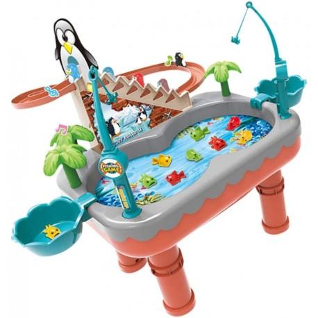 608468 Stolek na chytání ryb s tučňákem