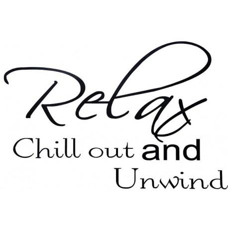 Dekorativní nálepky na stěnu - Relax and chill out
