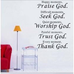 Dekorativní nálepky na stěnu - PRAISE GOD