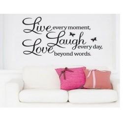 Dekorativní nálepky na stěnu - LIVE Laugh LOVE, 60x40 cm