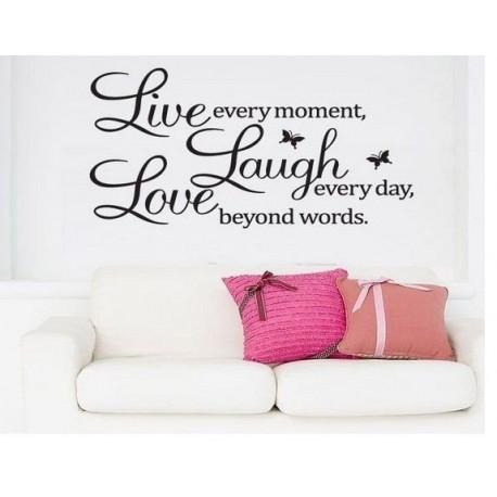 Dekorativní nálepky na stěnu - LIVE Laugh LOVE