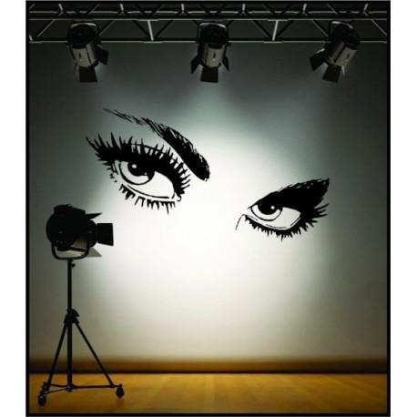 Dekorativní nálepky na stěnu - oči Audrey Hepburn
