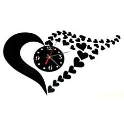 Nástěnné samolepící hodiny ve tvaru srdce