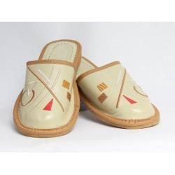 Dámské kožené pantofle model 32
