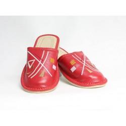 Dámské kožené pantofle model 33