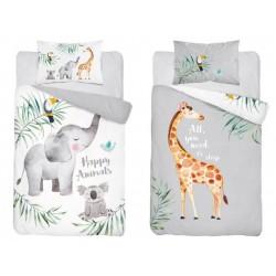 Bavlnené posteľné obliečky pre deti 90x120 - Sloník