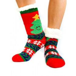 Termo dámské protiskluzové ponožky stromeček