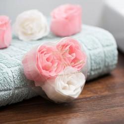Mýdlové růže 3ks sada