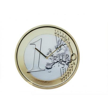 1 Euro nástěnné hodiny