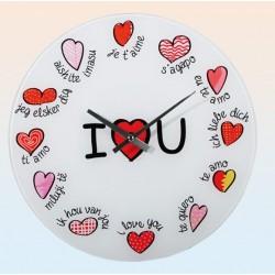 Nástěnné hodinky - Miluji tě