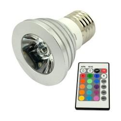Multibarevná LED žárovka s dálkovým ovladačem