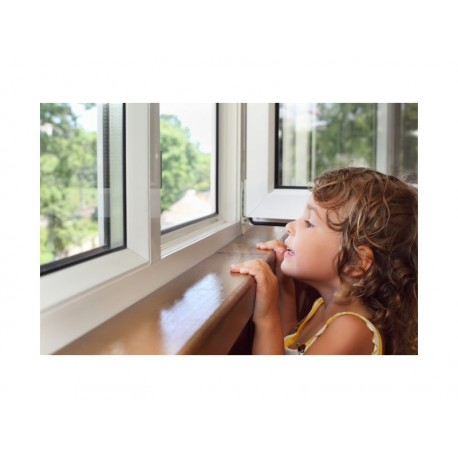 Bezpečnostní klika na okna Bílá