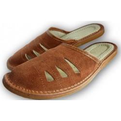 Pánské kožené pantofle - Hnědá