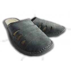 Pánské kožené pantofle - modré (P0015)