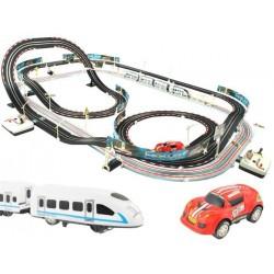 2937 Závodní dráha s cestou na vlak a autíčky