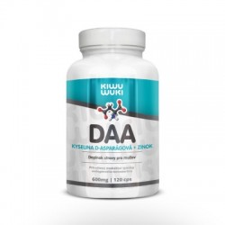 DAA - kyselina D-asparagová + Zinek | 600mg | 120 cps Doplněk stravy pro muže