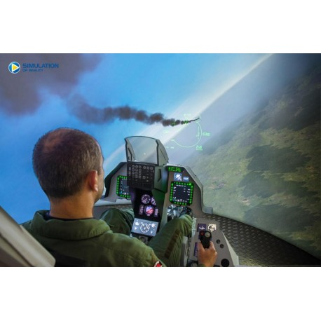Letecký simulátor stíhačky F16 30 + 15 minut RC simulátor