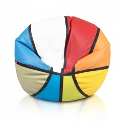 Sedací vak ECOPUF - BASKETBALL barevný