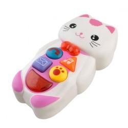Dětský interaktivní telefon - kočička