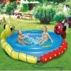 Dětský bazén veselé žížaly se sprchou