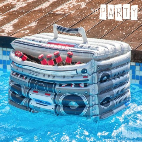24100 Nafukovací chladící box retro rádio