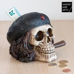 Pokladnička lebka osvoboditel s doutníkem