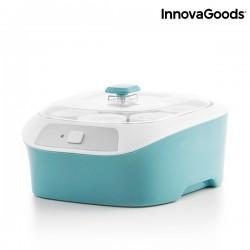 Retro jogurtovač se 6 sklenicemi InnovaGoods 1 L 20W tyrkysově bílý