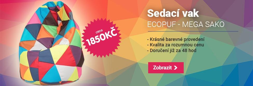 Sedací vak ECOPUF - MEGA SAKO ekokůže barevný