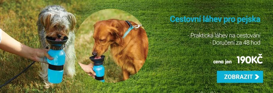 Cestovní láhev na vodu pro psy